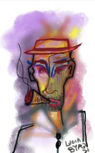 Man in Pork Pie Hat with Cigar